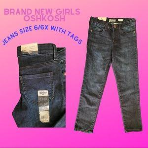 Girls OshKosh Blue Jeans size 6/6x New with tags